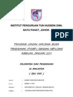 Asgmnt Falsafah Dan Pendidikan Di Malaysia