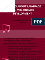 Teaching About Language and Vocabulary Development