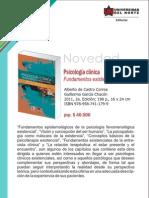 Psicología clínica 2a. Edición. Fundamentos existenciales