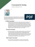 Four Types of Assessment for Nursing