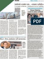 """Ex Scorpio, gli studenti contro un """"muro solido"""" - Il Resto del Carlino del 27 marzo 2012"""