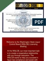 WSLCB Briefing