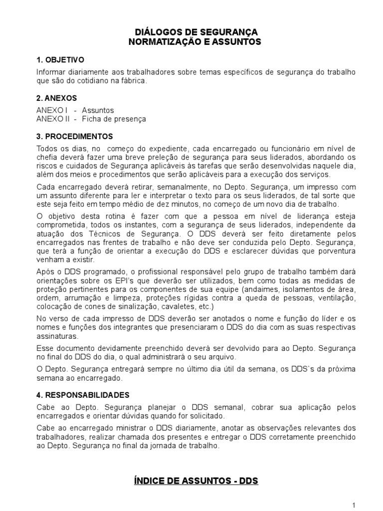 Dialogo Diario de Seguranca 1517 e884032909