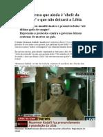 Kadhafi afirma que ainda é