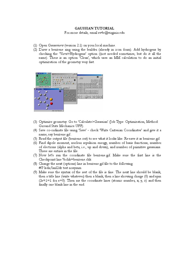 Gaussian Tutorial[1] | Physics & Mathematics | Physics