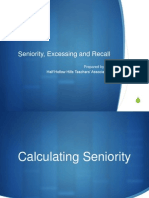 Seniority Excess and Recall Wo Last Slide