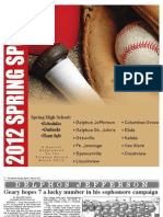 2012 Spring Sports Guide
