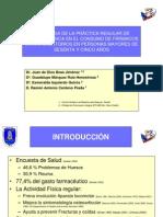 ACTIVIDAD FÍSICA Y FÁRMACOS AINE MAYORES (26 de octubre de 2007)