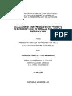 Deshidratacion de La Manzana-proyecto