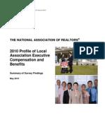 2010 Local Association Compensation Profile Survey Results