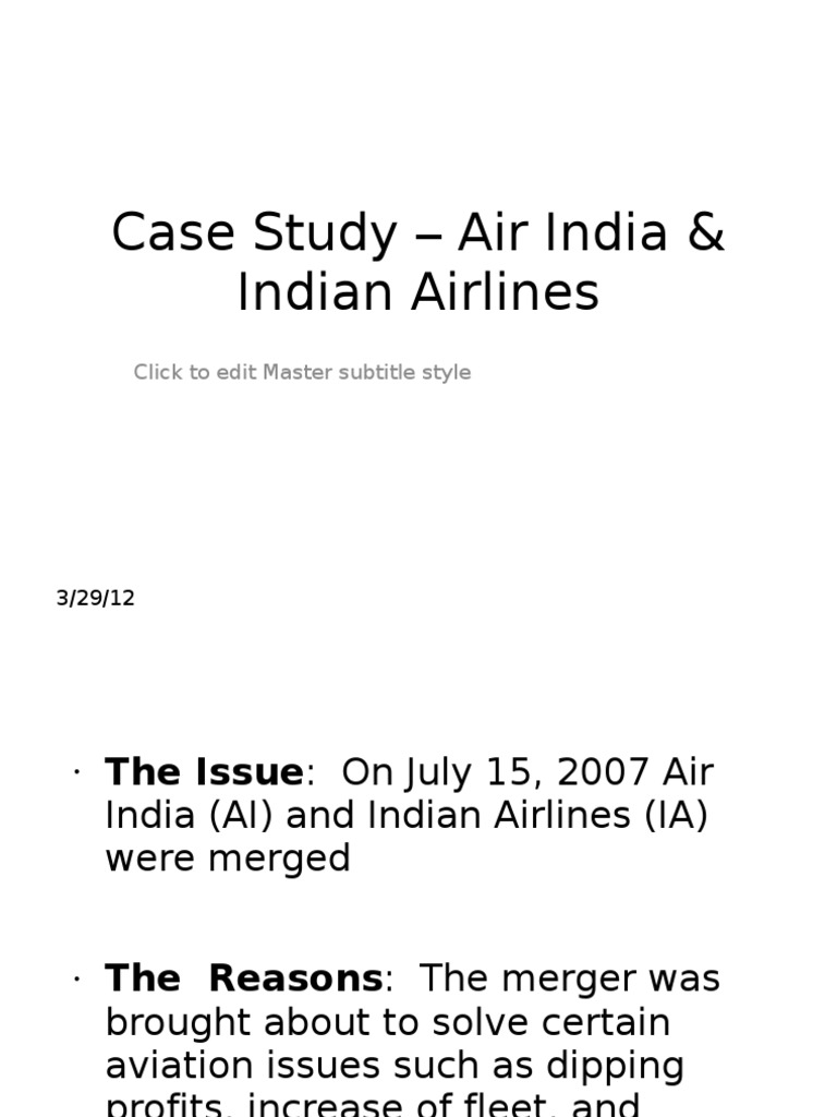 indian airlines merged with air india