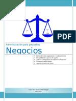 LIBRO DE ADMON para PEQUEÑOS NEGOCIOS