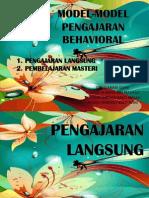 Model-model Pengajaran Behavioral
