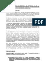 Reforma Constitucional Para Plebiscito