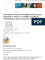 Contribution of Taxane Bio Synthetic Pathway Gene Expression to Observed Variability in Paclitaxel Accumulation in Taxus Suspension Cultures - Patil - 2012 - Biotechnology Journal - Wiley Online Library