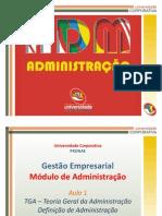 UCEP - ADM - A1 - Adm Definições