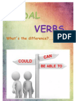 Modal Verbs, Can, Could or Be Able To