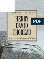 A Historical Guide to Thoreau