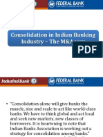 Consolidation in Indian Banking Industry – The M&A way