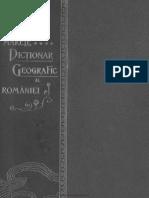 Marele Dictionar Geografic Al Romaniei Vol.04