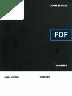 John Hejduk, Masques