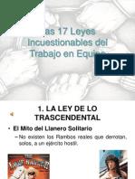 17 Leyes Incuestionables Para El Trabajo en Equipo Parcial
