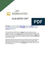 Albarino, Pazo de Barrantes