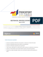 Gestion Del Proceso de Exportador - Colombia ProExport Marz 2012