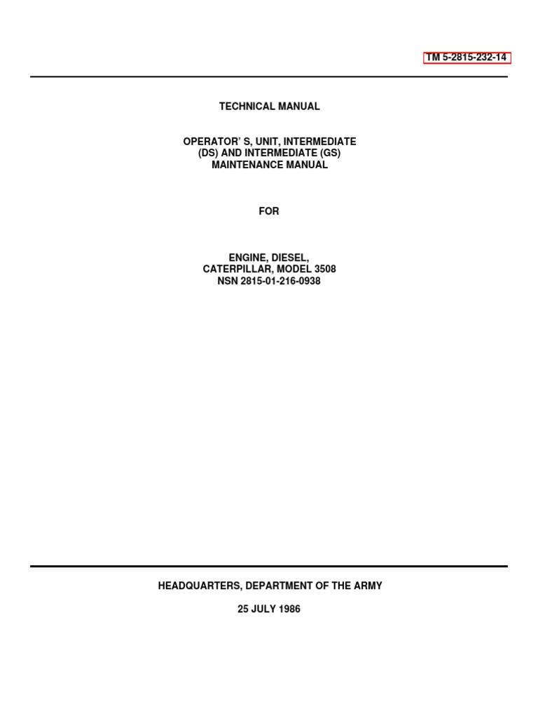 Caterpiller Engine Manual SVM | Internal Combustion Engine ...