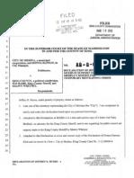 Medina City Attorney Declaration for Restraining Order