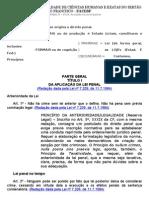 Material FACESF - Parte Geral - Direito Penal I - 2012.1 - 1a. Parte