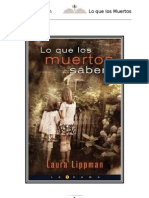 Lo Que Los Muertos Saben- Laura Lippman
