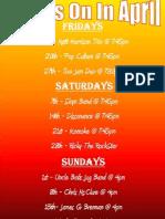 Kawana Surf Club | Whats on April