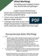 Definisi & Konsep Morfologi