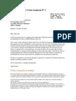 Ejemplo modelo Carta renuncia Nº 1