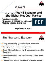 The New World Economy and the Global Met Coal Market