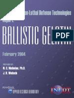 Ballistic Gelatin Report