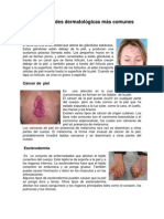 Enfermedades dermatológicas más comunes