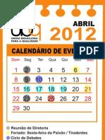 Calendário Final  UBQ 2012 - a partir de abril