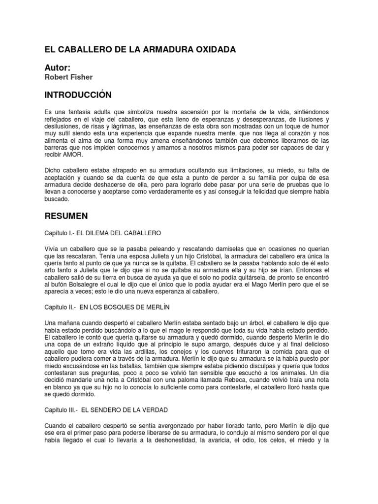 el caballero de la armadura oxidada pdf download