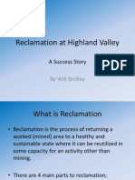 Reclamation at Highland Valley