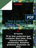 Caracteristicas de Nuestro Dios