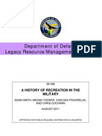 Military Bases Recreation History