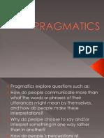 Cospus Linguistics and Pragmatics