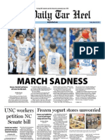 The Daily Tar Heel for March 30, 2012
