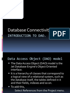 DAO | Active X Data Objects | Object (Computer Science)