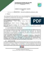 Resumen Ejecutivo PRAE FAZU 2012