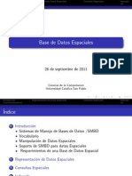 Base de Datos Espaciales