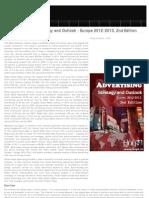 Social Advertising Strategic Outlook 2012-2013 Europe, 2012