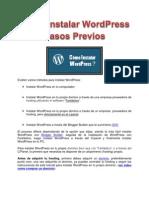 Cómo instalar WordPress P1